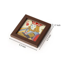 Load image into Gallery viewer, Playing Cards Canvas Hand Painted Coasters Set Of 4