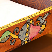 Load image into Gallery viewer, Handpainted Wooden Napkin Holder With Madhubani Art