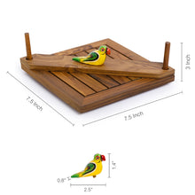 Load image into Gallery viewer, Hand-Painted Bird Napkin Holder In Sheesham Wood