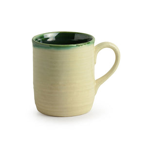 'Jade Translucence' Studio Pottery Glazed Tea & Coffee Cups In Ceramic (Set Of 6)