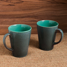 Load image into Gallery viewer, 'Blues Of Sky' Studio Pottery Glazed Coffee Mugs In Ceramic (Set Of 2)