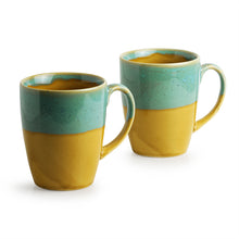 Load image into Gallery viewer, 'River Rims' Studio Pottery Glazed Coffee Mugs In Ceramic (Set Of 2)