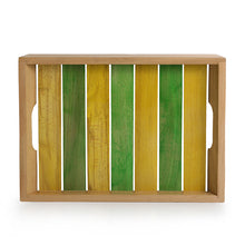 Load image into Gallery viewer, 'Spring for Two' Handcrafted Multicoloured Wooden Serving Trays (Set Of 2)