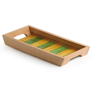'The Coloured Runner' Handcrafted Wooden Serving Tray