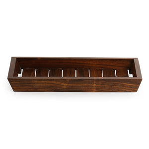 'The Woody Runner' Handcrafted Serving Tray In Sheesham Wood