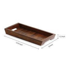 Load image into Gallery viewer, 'The Woody Runner' Handcrafted Serving Tray In Sheesham Wood