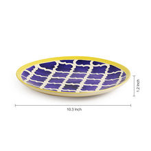 Load image into Gallery viewer, 'Moroccan Plate Pair' Handpainted Plates In Ceramic (10 Inch, Set Of 2)