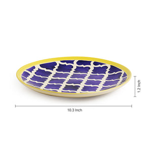 'Moroccan Plate Pair' Handpainted Plates In Ceramic (10 Inch, Set Of 2)