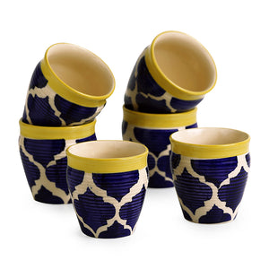 'Tropic of Kulhads' Handpainted In Ceramic (Set Of 6)