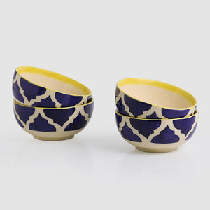 Four Mediterranean Bowls' Handpainted Serving Bowls In Ceramic (Set Of 4)