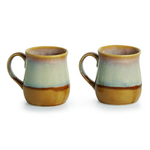 Load image into Gallery viewer, Tea-Coffee & Milk Mugs Dual-Glazed Studio Pottery In Ceramic (Set Of 2)