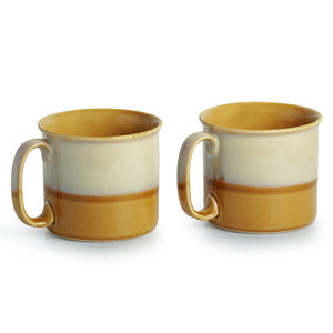 Noodle Mugs Dual Glazed Studio Pottery In Ceramic (Set Of 2)