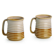 Load image into Gallery viewer, Beer & Milk Mugs Dual Glazed Studio Pottery In Ceramic (Set Of 2)