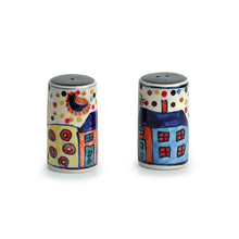Load image into Gallery viewer, Hut Handpainted Salt & Pepper Shaker Set In Ceramic