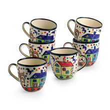 Load image into Gallery viewer, 'The Hut Morning Companions' Hand-Painted Ceramic Tea & Coffee Cups (Set Of 6)