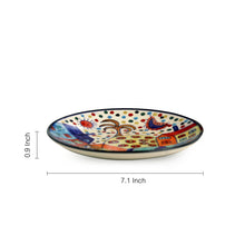 Load image into Gallery viewer, 'The Hut Family' Hand-Painted Ceramic Quarter Plates (7 Inch, Set Of 6)