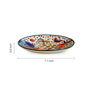 'The Hut Couple' Hand-Painted Ceramic Quarter Plates (7 Inch, Set Of 2)