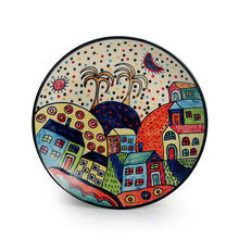 Load image into Gallery viewer, 'The Hut Couple' Hand-Painted Ceramic Dinner Plates (10 Inch, Set Of 2)