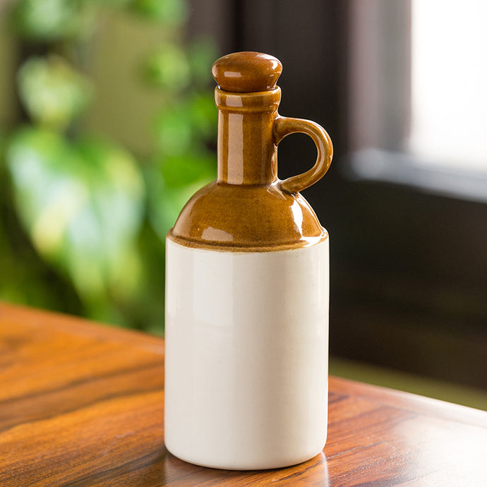 The 'Old Fashioned' Hand Glazed Studio Pottery Ceramic Oil Bottle (1000 ML)