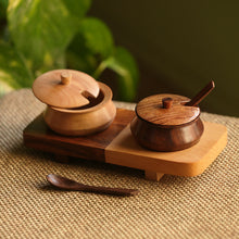 Load image into Gallery viewer, 'Wood Fusions' Handcrafted Wooden Refreshment Jars And Tray