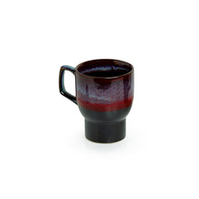 Load image into Gallery viewer, 'Crimson Caldera' Hand Glazed Studio Pottery Ceramic Coffee & Tea Mugs (Set Of 2)