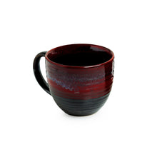 Load image into Gallery viewer, 'Crimson Lava Dome' Hand Glazed Studio Pottery Ceramic Coffee & Tea Mugs (Set Of 2)