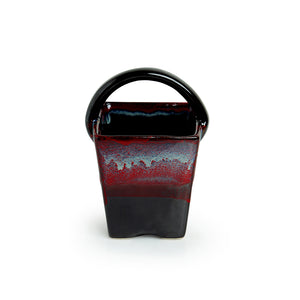 'Bucket of Lava' Hand Glazed Studio Pottery Ceramic Cutlery Holder