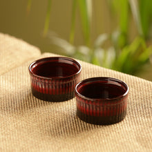 Load image into Gallery viewer, 'Crimson Companion' Hand Glazed Studio Pottery Ceramic Dessert Bowls (Set Of 2)
