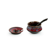 Load image into Gallery viewer, 'Plenary Crimson' Hand Glazed Studio Pottery Ceramic Pickle Holder (Set Of 3)