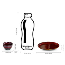 Load image into Gallery viewer, 'Crimson Platter Pack' Hand Glazed Stuidio Pottery Ceramic Dining Plate With Serving Bowls Set