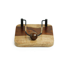 Load image into Gallery viewer, Cane Handwoven Napkin Holder In Sheesham Wood & Iron