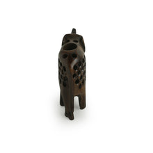 Load image into Gallery viewer, 'The Majestic Elephant' Hand Carved & Hand Painted Toothpick Holder Cum Showpiece In Cedar Wood