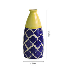 Load image into Gallery viewer, 'The Big-Neck Vase' Handpainted in Ceramic (10 Inch)