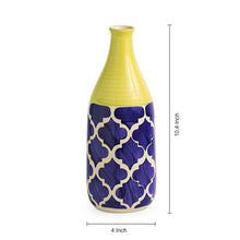 Load image into Gallery viewer, 'The Slender-Neck Vase' Handpainted in Ceramic (10 Inch)