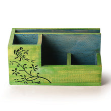 "Load image into Gallery viewer, ""Bird Collection"" Wooden Table Organizer"