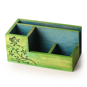 """Bird Collection"" Wooden Table Organizer"