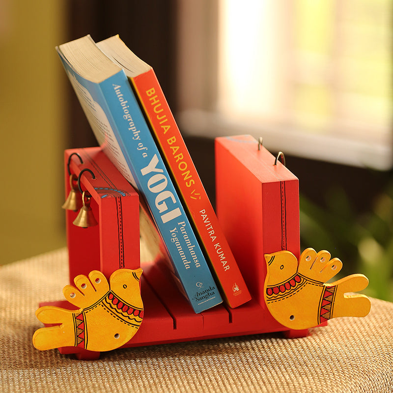 'Chirping Birds' Book End Handmade In Wood