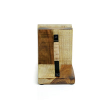 Load image into Gallery viewer, Cane Handwoven Bookends In Sheesham Wood & Iron