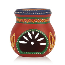 Load image into Gallery viewer, Terracotta Handpainted Aroma Diffusor In Red