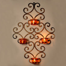 Load image into Gallery viewer, Wall Scone With 4 Tea Lights Holders