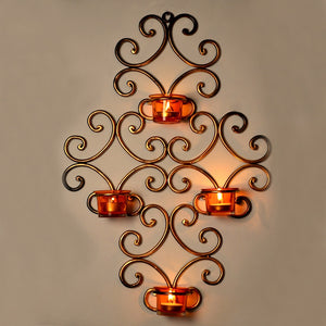 Wall Scone With 4 Tea Lights Holders