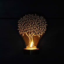 Load image into Gallery viewer, Tree Of Life Wooden Engraved Table Cum Wall Tealight Holder