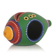 Load image into Gallery viewer, Shankh Shaped Terracotta Handpainted Tea Light Holder