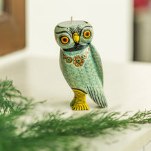 Load image into Gallery viewer, Handmade & Hand-Painted Owl Tea-Light Holder In Wood