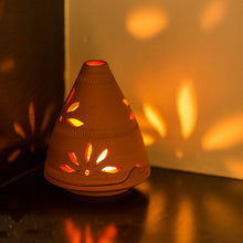Load image into Gallery viewer, 'Terra-Glow ' Handmade Tea-Light Holder In Terracotta