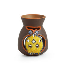 Load image into Gallery viewer, 'Owl Carved' Terracotta Aroma Diffuser