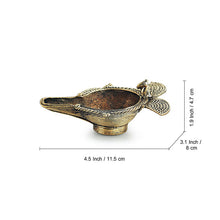 Load image into Gallery viewer, 'Shimmering Diya' Handmade Brass Showpiece In Dhokra Art