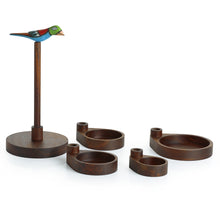 Load image into Gallery viewer, Bird Multi-utility Knick Knack Cum Jewellery Organizer Tray In Sheesham Wood