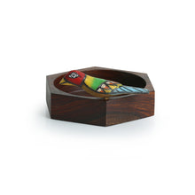 Load image into Gallery viewer, Hexagonal Multi-utility Knick Knack Bird Organizer Tray In Sheesham Wood