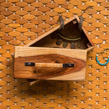 Load image into Gallery viewer, Cane Handwoven Multi-Utility Box In Sheesham Wood & Cane